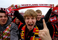 The Fan (blightylad1) Tags: usa scarf fan acc finger soccer maryland ncaa universityofvirginia supporters universityofmaryland acctournament boyds collegesoccer marylandsoccerplex