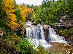 Black Water Falls in Early Autumn