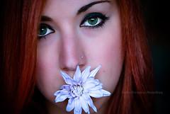 La Canzone del Sole (Elettra | Panzarino | PhotoStory) Tags: flowers red portrait people flower eye face portraits persona eyes nikon persone occhi fiori fiore rosso ritratti ritratto occhio viso ragazza faccia rossa d3000 nikond3000