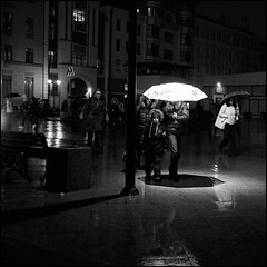 5_DSC4306 (dmitryzhkov) Tags: russia moscow documentary street life human lowlight night monochrome reportage social public urban city photojournalism streetphotography people best bw group bunch kid children parent motion movement nightphotography beststat scene scenesoflife shadows lights parasol umbrella walk walker pedestrian badweather dmitryryzhkov blackandwhite outdoor everyday candid stranger selection