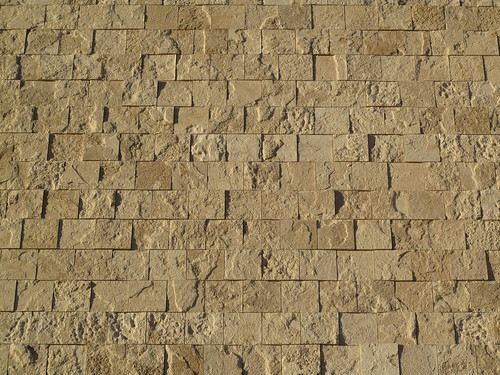 Travertine wall of the Getty