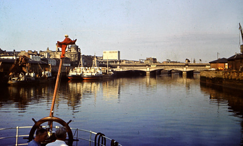 Looking East River Clyde 1960s