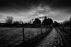 Belgian Road ... to Beisem (3) (Tom Van de Peer) Tags: bw church 10mm saintmiachael belgianroad