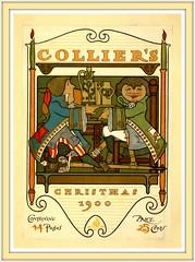 1900 Poster Collier's Christmas - artist Will Bradley (carlylehold) Tags: robert haefner robertchaefner