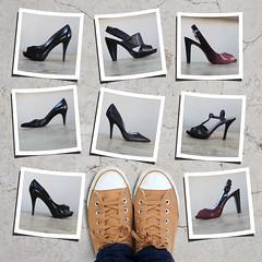 Shoe Problem (YetAnotherLisa) Tags: shoes highheels converse chucks odc shoeproblem