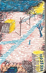 (Daniel Liberalino) Tags: brazil blackandwhite art moleskine illustration pen landscape drawing daniel sketchbook squareformat marker ilustrao desenho hidrocor iphoneography instagramapp liberalino