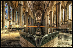 Place For Reflection (angeladj1) Tags: font salisburycaathedral