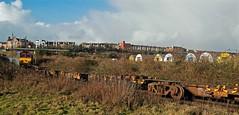 Departing Barry Docks (Welsh Gold) Tags: train docks newport barry chemical corning dow adj 66025