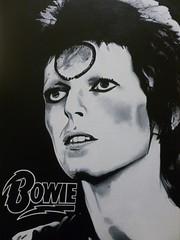 Bowie (Jonathan Daga) Tags: portrait london argentina rock illustration painting bowie buenosaires brighton acrylic jonathan drawings pop glam british joda poprock glamrock rockandroll davidbowie daga ziggystardust jonathandaga