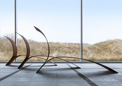 Stallinga Lounge Chair Museum Sculptures at Sea side view (Studio Stallinga) Tags: design chair rust contemporaryart steel dunes exhibition visualart museumbeeldenaanzee stallinga henkstallinga museumsculpturesatsea studiostallinga