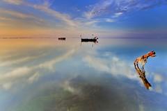 Deltebre (Jona Mago) Tags: sea sky espaa costa seascape coast mar spain hard catalonia 150 amanecer cielo edge grad hitech catalua reflejos deltebre deltadelebro marmediterraneo nikon1224mmf4 nd06 nikond7100
