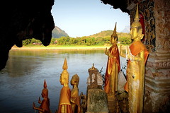 Pak-Ou Caves (PeterCH51) Tags: river landscape scenery buddhist religion culture buddhism caves laos mekong luangprabang mekongriver buddhistart buddhastatue pakou pakoucaves buddhiststatues banpakou religioussite buddhistsite peterch51 buddhistplace