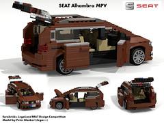 SEAT Alhambra MkII MPV -  PQ46 (Eurobricks Miniland Car Design Competition) (lego911) Tags: auto car vw spain model lego render seat competition alhambra mk2 van compact billund legoland cad povray mpv moc ldd miniland eurobricks lego911 pq46