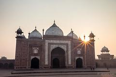 Taj Mahal Masjid 7877 (Ursula in Aus) Tags: india architecture taj tajmahal agra unesco uttarpradesh earthasia