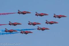 The RAF Red Arrows (Kyle Greet) Tags: display hawk aircraft aviation smoke planes falmouth redarrows raf