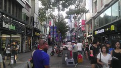 Checkin out Downtown Daegu in my free time with Asst Coach Kaaron Conwright