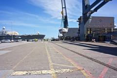 Pier 80 Tesla's Heavy Order 5-2014 (daver6sf@yahoo.com) Tags: portofsanfrancisco longshoreman heavyload pier80 stevedores e1855mmf3556oss