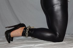 Bound and fucked stiletto boots