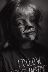 Follow your instinct (Dalla*) Tags: boy portrait white black face animal kid paint lion follow your instinct wwwdallais