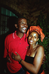 Nomsa Farewell Party Jabulani Soweto South Africa Eric RIP Jan 30 1999 181 Nomsa and her Dad Eric (photographer695) Tags: nomsa farewell party jabulani soweto 1999 182 south africa eric rip jan 30 her dad