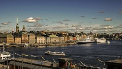 Old Town in Stockholm, Sweden 21/6 2014. (photoola) Tags: sweden stockholm harbour photoola