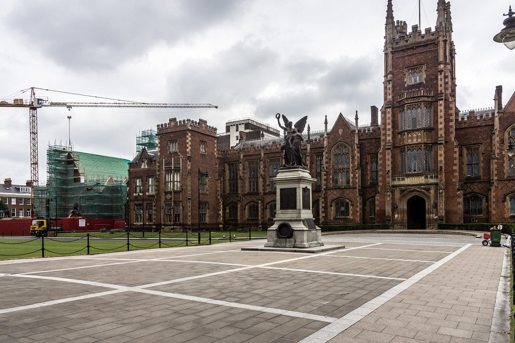 This War Memorial is situated on the grounds of Queen's University in Belfast [Northern Ireland]