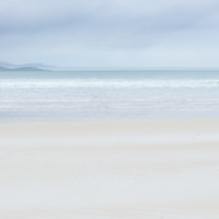 Luskentyre Blue Sunrise (corrine8) Tags: 2016 hebrides november sand sea seascape tranquil peaceful calm relaxing restful multiple exposure icm dawn early morning sunrise ocean water waves blue sky pastel icecreamcolours luskentyre corrineweaver beach coast coastal meditative