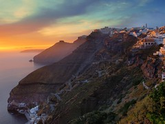 Santorini sunset | Photography by Eric Hossinger (manbeachrm) Tags:  clouds sunsets  blue naturelovers sunrise orange sunsetstream sunsetporn sundown skylovers pordosol cloud skylinen natureperfection naturelover landscapelovers landscapes natur landscapecaptures horizon puestadesol silhouette