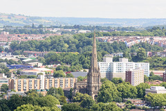 #Redcliffe, #Bristol (Joe Dunckley) Tags: brandonhill bristol cabottower england redcliffe redcliffechurch stmaryredcliffe stmaryschurch uk apartmentbuilding architecture building church city cityscape councilestate fromabove house housing parishchurch socialhousing spire summer sunny terracedhouse