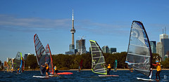 17 km Course Around Toronto Island (kaprysnamorela) Tags: twc mammothrace race 2016 ontario lake windsurfing sail blue canada landscape nikond3300