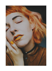 (Julia Baier) Tags: fuji xpro2 fujixpro2 orange orangehair portrait colour makeup beauty self selfportrait 35mm