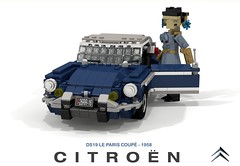 Citroen DS - ID19 Le Paris Coupe - 1958 (lego911) Tags: citroen ds id 1d19 le paris coupe 1958 1950s classic hardtop france french auto car moc model miniland lego lego911 ldd render cad povray lugnuts challenge 108 9th birthday lugnutsturnnine turns nine 78 placeseveryone place everyone