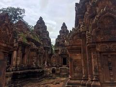 Banteay Srei. Cambodia (naomicap) Tags: countryside ruins temple cambodia banteaysrei