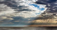 opening sky (ChristianStork) Tags: olympus omdem5markii mzuiko1240f28 himmel sky wolken clouds see sea lbeckerbucht sonnenstrahlen sunbeam