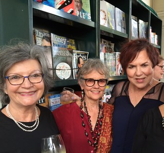 Art Circuits Publisher Liana Perez with friends Barbara Young and Lilia Garcia