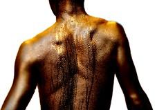 Golden Man (yoshinori.okazaki) Tags: gold sweat man