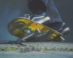 yegut (rockinmonique) Tags: skateboard textures blue yellow urban city tricks moniquew canon canont6s tamron copyright2016moniquewphotography