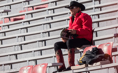 Cowboy Fan (Codydownhill) Tags: football game huskers big red sports portrait trophy brother dad