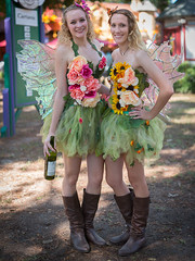Forest Nymphs (Ron Scubadiver's Wild Life) Tags: texas renaissance festival girl woman costume cosplay outdoors nikon 50mm fantasy boots