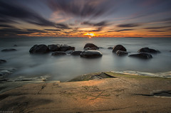 Carvings_ (JLindroos) Tags: seascape sunset sea water rocks rock sky clouds long exposure horizon colorful carvings lee filters finland pori reposaari canon zeiss jlindroos