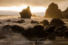 Rocky Water (Connar L'Ecuyer) Tags: socal landscape sunset goldenhour longexposure sea beach ocean cloud hiking clouds cloudy seascape elmatador malibu santamonicas la