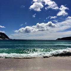 Wineglass Bay. Breaking the waves.
