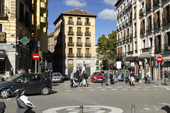 Street Scene - Calle Mayor Madrid (rschnaible) Tags: madrid spain espana europe building architecture street scene outdoor calle mayor
