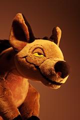 002-Shenzi at Sunset (Univaded Fox) Tags: shenzi hyena the lion king plush disney store photography experiment sunset filters photoshop univaded