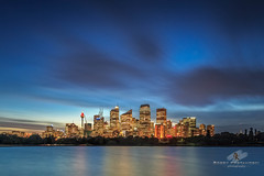 City Limits (Bobby Krstanoski - Photography) Tags: architecture australia buildings candid canon5dmarkiii canonef1635f28 cityscapes eastcoastaustralia harbour landscape longeposure mrsmacquarieschair nsw outdoor skyline summer sunset sydneyharbour sydneytower
