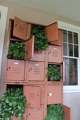 Vintage Lockers Planters (irecyclart) Tags: planter pots verticalgarden