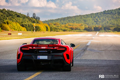 Ready To Take Off (Raphal Belly Photography) Tags: rb raphal french riviera south france luxury supercar supercars spotting car cars voiture automobile raphael belly canon eos 7d photographie photography saint tropez airport aroport mclaren laren 675lt 675 lt long tail red rouge rosso rossa delta
