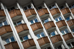 Balconies on a buildling in Cortina d'Ampezzo, Italy (diana_robinson) Tags: diagonal balconies buildling cortinadampezzo italy