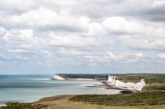 Coastline (Emanuel Kluge) Tags: england eastbourne nikon d300s 50mm summer outdoor sevensisters coast shore sea water ocan meadows cliffs rock chalk sky clouds cloudporn panorama