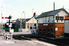 Signal box Porthmadog 2/10/86 (Martin Pritchard) Tags: signal box grooms industries glynco porthmadog railway gwynedd north wales